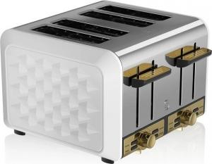 Swan 4 Slice Metal Toaster – Φρυγανιερα Άσπρη