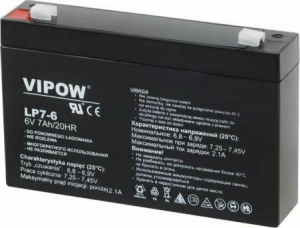 Lead-acid battery 6V 7Ah VIPOW.151X34X94(101) mm