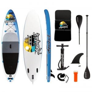 AquaLust Φουσκωτή σανίδα SUP 10'6'' πακέτο με κουπί 2 σε 1 - Μπλε