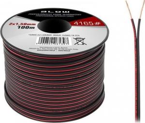 Blow DM-4165.Καλώδιο 100m κουλούρα κόκκινο και μαύρο 2x1.50mm