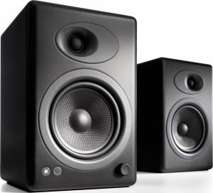 Audioengine A5+ Satin Black Ζεύγος αυτοενισχυόμενων ηχείων Υπολογιστη σε Black