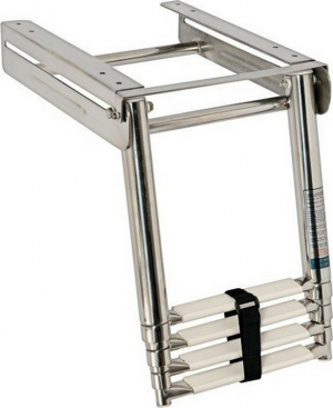 Σκάλα Τηλεσκοπική Πλατφόρμας Inox SS316 4 Σκαλιά 25.4 x 115.6cm
