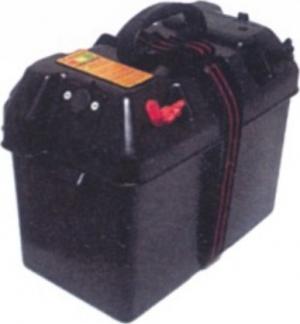 Κουτί μπαταρίας με ενσωματωμενο φις αναπτηρα και εξοδους +/ -