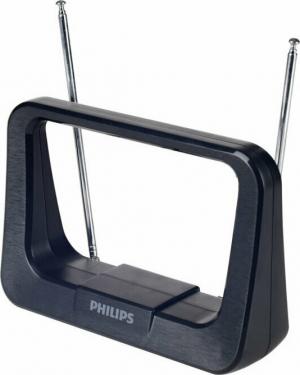 Philips SDV1226/GRS Κεραία TV. HDTV/4K/UHF/VHF/FM εσωτερικη με ενισχυτή 28 dB και φίλτρο GSM – 17 x 12 cm