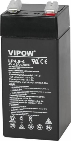 Lead-acid battery 4V 4.9Ah VIPOW.43X43X100mm