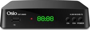 Osio OST-2660D DVB-T/T2 Ψηφιακός δέκτης Full HD H.265 MPEG-4 με USB και χειριστήριο για TV & δέκτη