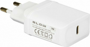 Blow USB-C Wall Adapter Λευκό (76-004)