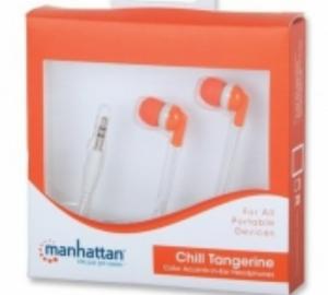 Manhattan 178273 Ακουστικα  in-ear πορτοκαλί