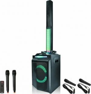 Akai DJ-120J Bluetooth party speaker με LED, TWS για σύνδεση με δεύτερο και 4 μικρόφωνα – 150 W RMS