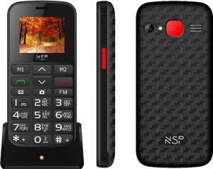 NSP 2000DS SILVER (Ελληνικό Μενού) Κινητό τηλέφωνο Dual SIM με BT οθόνη 1.8″+ SOS+ hands-free