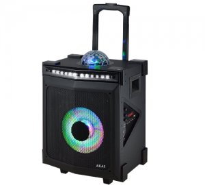 Akai ABTS-80 Φορητό Bluetooth karaoke party speaker με LED