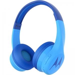 Motorola SQUADS 300 Blue Ενσύρματα / Ασύρματα BT on ear παιδικά ακουστικά Hands Free με splitter