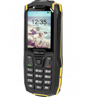 Kruger & Matz Iron 2 Black/Yellow Κινητό Τηλέφωνο Ανθεκτικο-BT