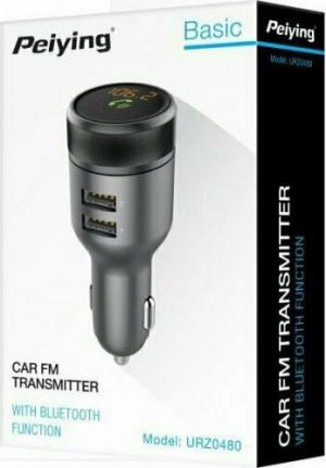 Peiying URZ0480 FM Transmiter αυτοκινήτου με λειτουργία Bluetooth και 2xUSB