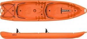 Seaflo SF-4001 Orange DUORUM - Διθέσιο καγιάκ για 2 ενήλικες και 2 παιδιά σετ με 2 κουπιά - Πορτοκαλί