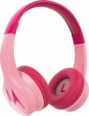 Motorola SQUADS 300 Pink Ενσύρματα / Ασύρματα BT on ear παιδικά ακουστικά Hands Free με splitter