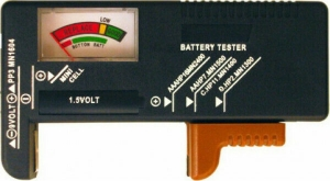 DT Electronics TEST-555 Αναλογικό Battery Tester με Πτυσσόμενη Υποδοχή