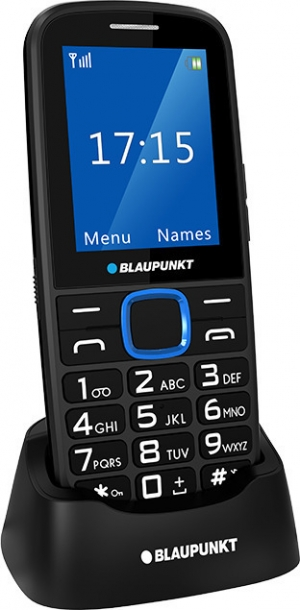 "Blaupunkt BS 04 Black/Blue Κινητό Τηλέφωνο Με LCD οθόνη 2,4"" Και Κουμπί SOS – Μπλε"