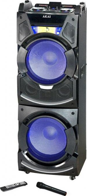 Akai DJ-S5H BT karaoke με μίκτη, διπλό BT-LED, 2 USB, 2 SD, 2 Aux-In και ασύρματο μικρόφωνο – 400 W