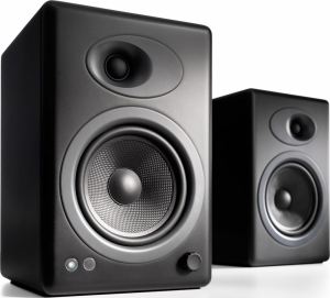 Audioengine A5+ Satin Black Ζεύγος αυτοενισχυόμενων ηχείων βιβλιοθήκης σε Black