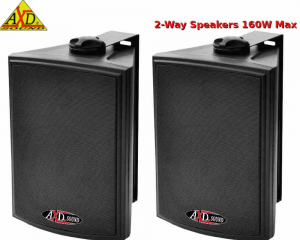 AXD Sound TE5500BL Ζεύγος ηχείων Μαυρα 5.25'' 160w