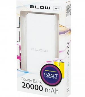 Blow PB15 Powerbank 20000mAh 2xUSB PB15 Λευκό