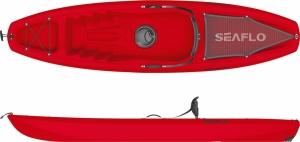 SeaFlo Puny SF-1003 Red Μονοθέσιο καγιάκ με ενσωματωμένη ρόδα στην πρύμνη και κουπί - Κόκκινο