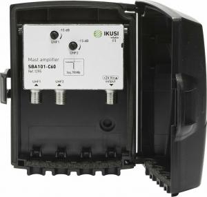 IKUSI SBA101-C60 Ενισχυτής ιστού 2xUHF Gain 36dB (470-790 MHz)