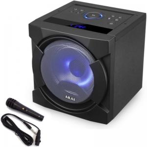 Akai ABTS-K6 Φορητό ηχείο BΤ karaoke- USB, LED, SD, Aux-In, και Μιc – 30 W