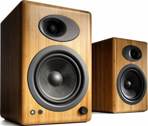 Audioengine A5+ Wireless Bamboo Ασύρματα Αυτοενισχυόμενα Ηχεία Βιβλιοθηκης Bamboo