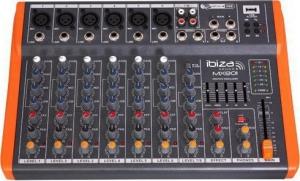 Ibiza Sound MX801 Μικροφωνικός Μίκτης Με USB Player 6 Μικροφωνικών