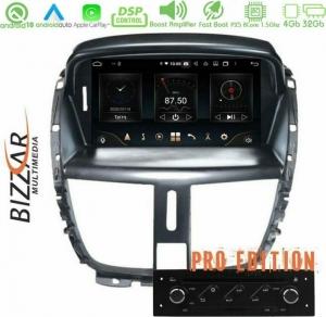 Bizzar Pro Edition Peugeot 207 Android 10 8core Navigation Multimedia