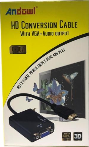 Andowl HDMI male - VGA female (Q-307)