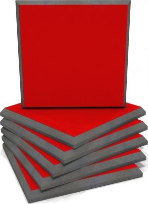 EQ Acoustics Colourpanel 60 Acoustic Red Ηχοαπορροφητικό Αφρού 5cm (6 Τεμάχια)