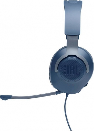 JBL Quantum 100 Blue Over-Ear Wired Gaming Headset