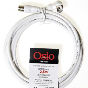 Osio OSK-1330 Καλώδιο κεραίας από γωνιακό αρσενικό σε θηλυκό 2.5 m 75 Ω