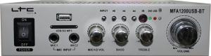 LTC Audio Ενισχυτής με λειτουργία Karaoke MFA1200USB-BT σε Ασημί Χρώμα