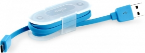 Puro Flat USB 2.0 to micro USB Cable Μπλε 1m (P-CMICRORFLAT)