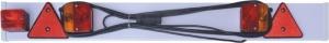 Eval Πλάκα Τρέιλερ 01547-1 με Φώτα & Καλώδιο 8m