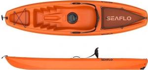 SeaFlo Puny SF-1003 Orange Μονοθέσιο καγιάκ με ενσωματωμένη ρόδα στην πρύμνη και κουπί - Πορτοκαλί