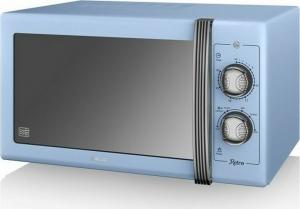 Swan 900W Manual Microwave – Φούρνος μικροκυμάτων Μπλε