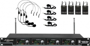 Xsound XS-MP-4 Ασύρματο σύστημα 4+4 μικροφώνων VHF.