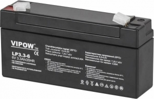 Lead-acid battery 6V 3.3Ah VIPOW. 134x34x60mm