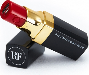 Richmond & Finch Lipstick 2600mAh Powerbank Μαύρο