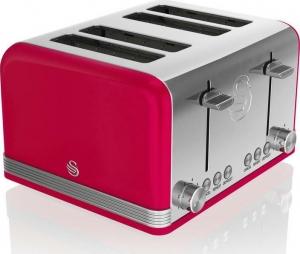 Swan Retro 4 Slice Red Toaster – Φρυγανιερα Κόκκινη