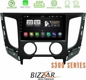 Bizzar S300L Mitsubishi L200 2016-2021 Car Pad 9″ Android 10 Multimedia Station