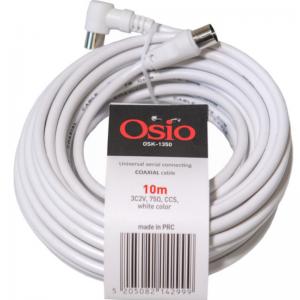 Osio OSK-1350 Ομοαξονικό καλώδιο κεραίας από γωνιακό αρσενικό σε θηλυκό 10 m 75 Ω