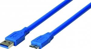 Heitech 09004109 Καλώδιο USB 3.0 A-Male σε Micro-B 1.5 m