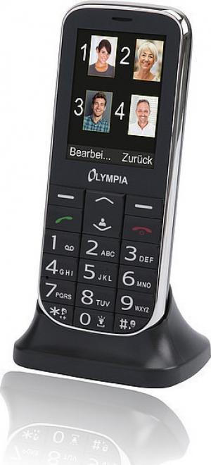 Olympia JOY II Black GR (Ελληνικό Μενού) Κινητό τηλέφωνο για ηλικιωμένους με SOS, κάμερα-BT