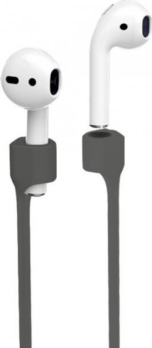 Puro silicon magnet lace for AirPods – Σκούρο Γκρι  (APLACEDKGREY)